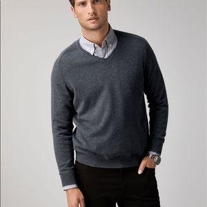 Peter Millar 100% cashmere Charcoal Grey sweater